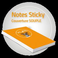 Notes STICKY Repositionnables avec Couverture Souple
