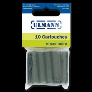 10 CARTOUCHES COURTES ENCRE NOIRE ULMANN