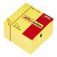 bloc cube jaune