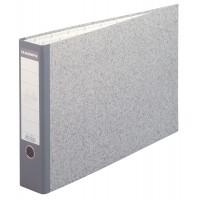 classeur a levier gris cartonne