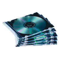 PACK 25 BOITIERS CD ou DVD TRANSPARENTS
