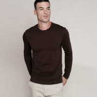 Tshirt col rond manches longues homme