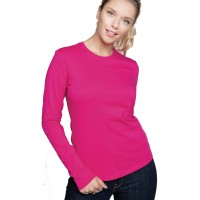 Tshirt col rond manches longues femme