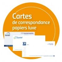 Cartes de correspondance Papiers Luxe